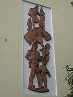 1170 Andergasse 10-12 - Ernest Bevin-Hof - Steinzeugrelief Ernte von Josef Franz Riedl 1958 IMG 4743.jpg
