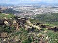 145 Poblat ibèric de Puig Castellar, amb Montcada al fons.JPG