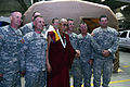 14th Dalai Lama, Tenzin Gyatso, poses for a photo with members of the Oregon National Guard's 102 Civil Support Team.jpg