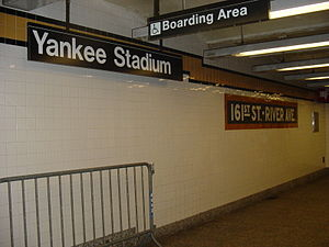 161st Street–Yankee Stadium (New York City Subway) - Station identification signage, old and modern