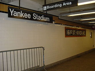 161st Street–Yankee Stadium (New York City Subway) - Station identification signage, old and modern