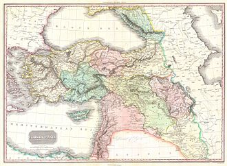 Armenians in the Ottoman Empire - Western Armenia on the Ottoman Empire map. John Pinkerton, 1818