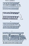 1834 sketch of prastaras, entablature elements in Hindu temple architecture.jpg