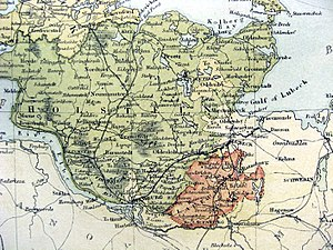 Holstein - Map of the Duchy of Holstein c1815-66