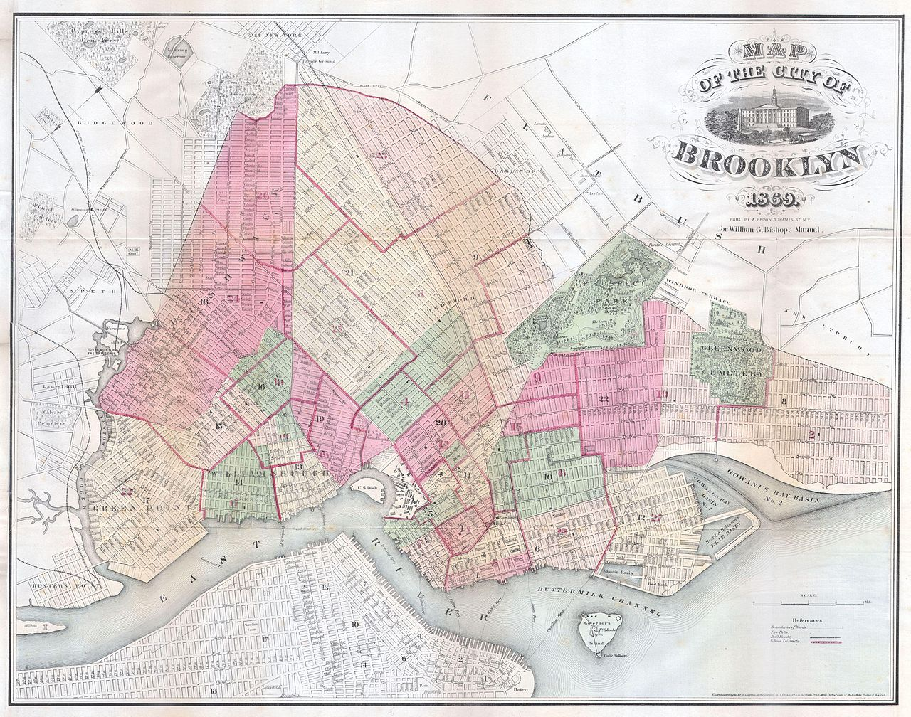 File:1869 Bishop Map of Brooklyn, New York - Geographicus ...