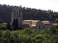 189 Abadia de Santa Maria, façana est, vora l'Orbieu.jpg