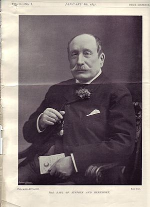 Henry Howard, 18th Earl of Suffolk - The Earl of Suffolk as published in the first issue of Country Life (magazine), Jan. 8, 1897