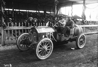Ernesto Ceirano - Targa Florio 1908, Ernesto Ceirano in S.P.A. 18 May 1908.