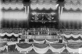 1912 Democratic National Convention - Armory decorated for the convention