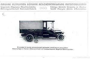 Hungarian General Machine Factory - A Magomobil truck in 1914