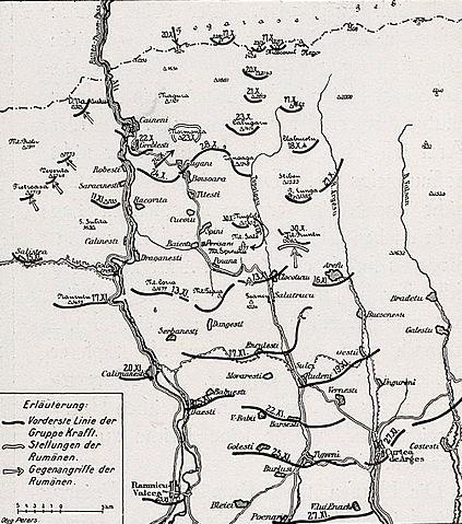 File 1916 Albert Reich Harta Cu Luptele Corpului Alpin German
