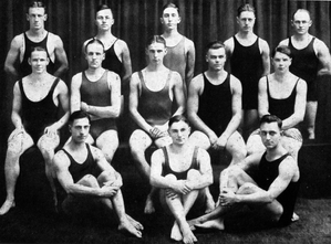 "Michigan Wolverines swimming and diving - 1920 ""Informal Varsity Swim Team"""