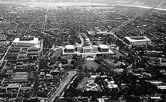 United States Capitol Complex - Aerial view of the United States Capitol Complex, c. 1923