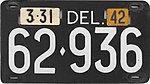 Vehicle Registration Plates Of The United States For 1942 Wikipedia
