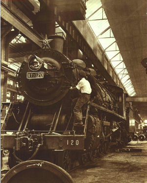 China Railways SL3 - China Railway PX3 class ㄆㄒ3 120 in October 1952