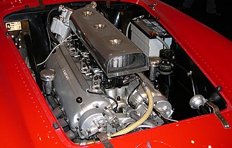 Ferrari Lampredi engine - Image: 1954 Ferrari 375 Plus engine