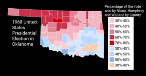 United States presidential election in Oklahoma, 1968 - Image: 1968United States Presidential Election In Oklahoma