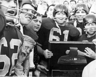 California Golden Bears football - 1967 - Under Ray Willsey Cal wins its first Big Game in 7 years.