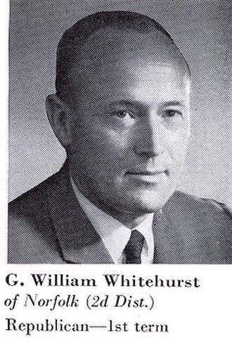 G. William Whitehurst - 1969, Congressional Pictorial Directory, Whitehurst as a first term Congressman