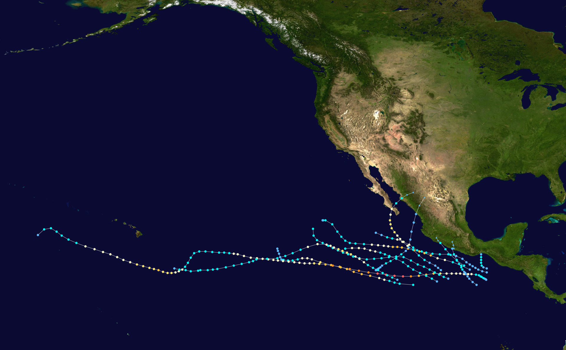 1973 Pacific Hurricane Season Wikipedia