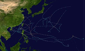 1977 Pacific typhoon season - Image: 1977 Pacific typhoon season summary