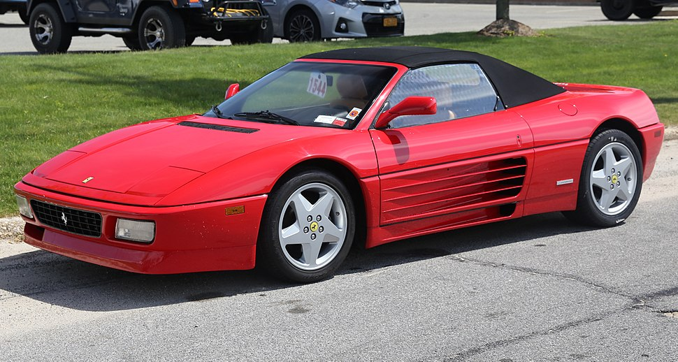 1993 Ferrari 348 Spider, roof up front left