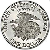 1998 Robert Kennedy Proof Dollar (rückwärts).jpg