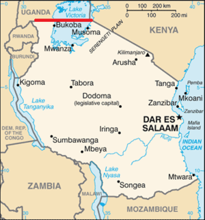 1st parallel south - The 1st parallel south forms most of Tanzania's northern border with Uganda, and a short section of its border with Kenya.
