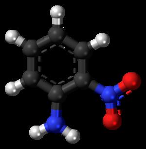 2-Nitroaniline - Image: 2 Nitroaniline 3D balls