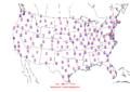 2006-01-22 Max-min Temperature Map NOAA.png