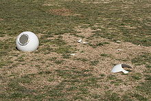 2010-02-14 Shattered light dome scattered on lawn.jpg