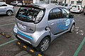 2010 Mitsubishi i-MiEV (GA MY10) hatchback, Positive Charge, using ChargePoint station, 1 David Street, Brunswick, Victoria (2015-07-15) 03.jpg