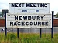 2010 at Newbury Racecourse station - next meeting sign.jpg