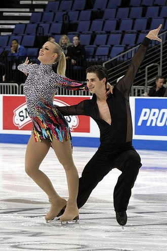 Skate America - Madison Hubbell and Zachary Donohue at the 2011 Skate America