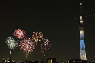 Tokyo Skytree - Sumidagawa Fireworks Festival