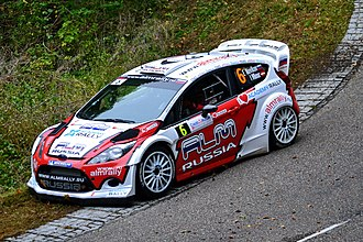 2012 World Rally Championship - Evgeny Novikov drives for M-Sport Ford.
