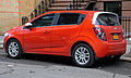 2012 Chevrolet Sonic LT rear, very orange.jpg
