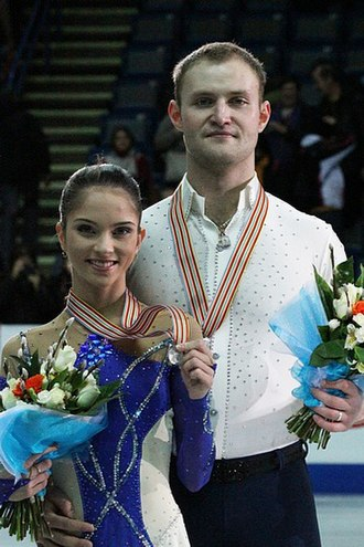 Yuri Larionov - Bazarova and Larionov at the 2012 European Championships