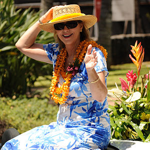 Peter Carlisle - Carlisle's wife, then Honolulu First Lady Judy Carlisle, rides in the 2012 Kamehameha Day Parade.