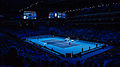 2014-11-12 2014 ATP World Tour Finals show court during Marin Cilic vs Thomas Berdych match 3 by Michael Frey.jpg