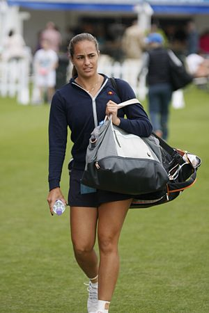 Monica Puig - Puig at the 2015 Aegon International in Eastbourne