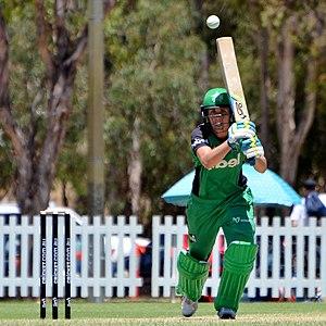 Natalie Sciver - Sciver batting for Melbourne Stars during WBBL02.