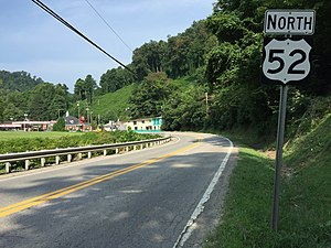 U.S. Route 52 in West Virginia - View north along current US 52 in Gilbert