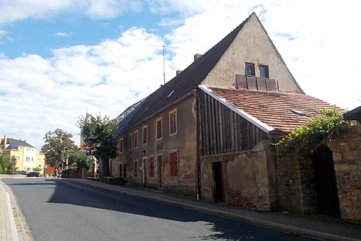 2017 Pesterwitz historisches Gebäude vor der Rekonstruktion