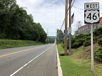 Mine Hill Township, New Jersey - US 46 westbound in Mine Hill Township