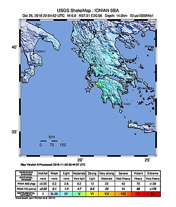 2018-10-25 Mouzaki, Greece M6.8 earthquake shakemap (USGS).jpg