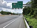 2019-05-27 13 46 06 View south along the inner loop of the Capital Beltway (Interstate 95 and Interstate 495) at Exit 9 (Maryland State Route 337-Allentown Road, Andrews Air Force Base, Morningside) in Morningside, Prince George's County, Maryland.jpg