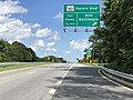 2020-08-04 15 06 44 View south along Maryland State Route 151 (North Point Boulevard) at the exit for Maryland State Route 150 WEST (Eastern Boulevard, Baltimore) in Dundalk, Baltimore County, Maryland.jpg