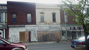 National Register of Historic Places listings in Marion County, Missouri - Image: 207 209 South Main Hannibal 3