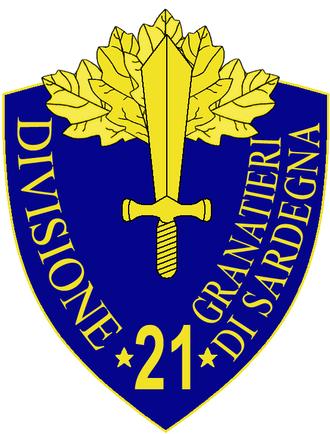 21st Infantry Division Granatieri di Sardegna - 21st Infantry Division Granatieri di Sardegna Insignia